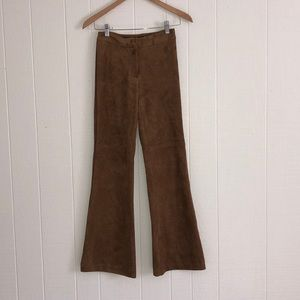 H&M suede brown pants size 2